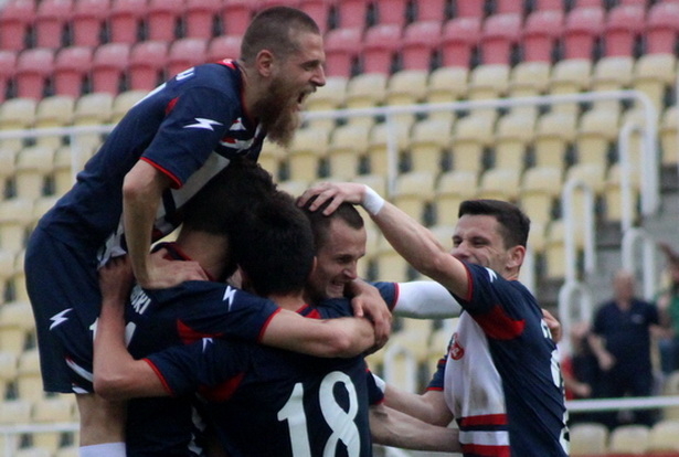 Rabotnichki players celebrate one of the goals; photo: FK Rabotnichki