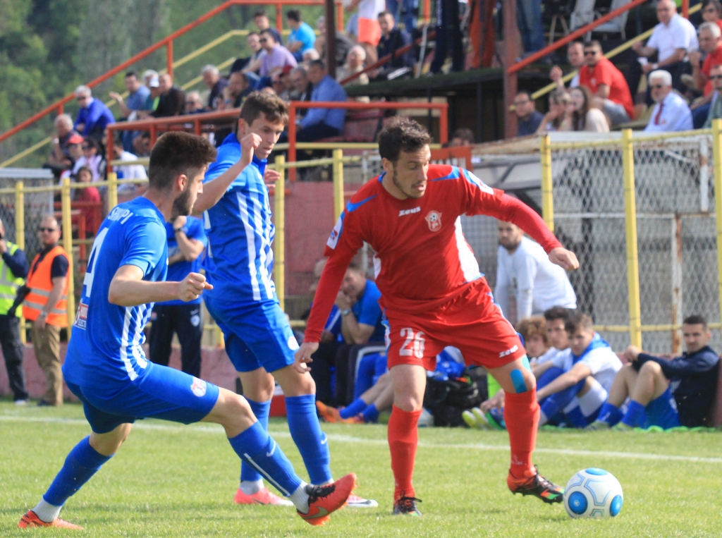 Ivan Vuković goes by Edis Malikji; photo: FK Rabotnichki